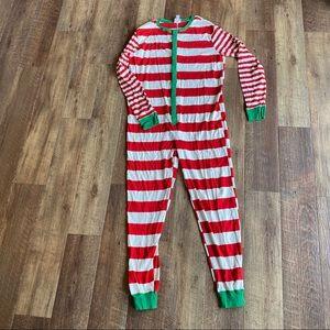 Wondershop striped one piece Christmas pajamas XL